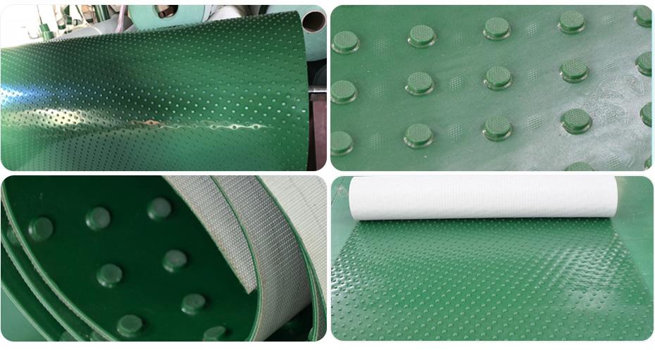 绿色凸点花纹输送带