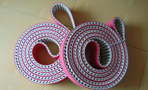 PU加红胶同步带用在陶瓷加工怎样